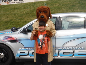 Officer Reager at Kinsey's Outdoors for kids day